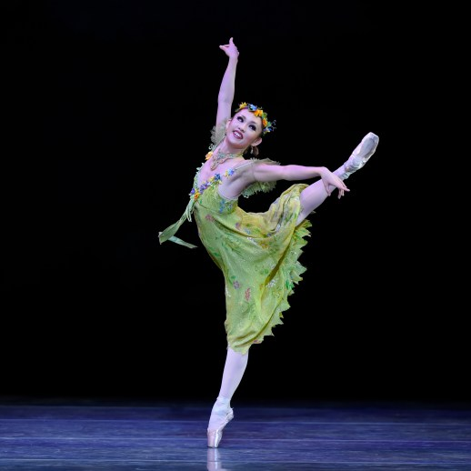 "Ansa Deguchi (as the Spring Fairy) in the company premiere of Ben Stevenson's ""Cinderella,"" running February 28 - March 7, 2015, at Portland's Keller Auditorium. Photo by Yi Yin."