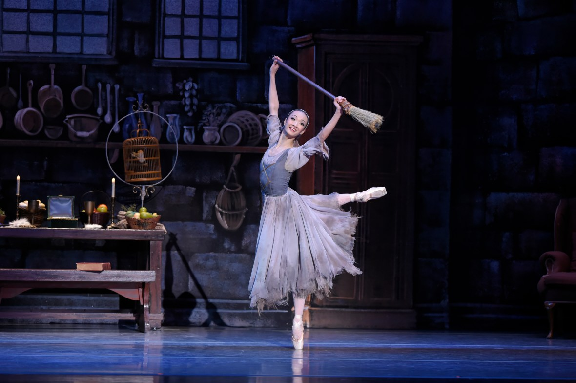 """Xuan Cheng (as Cinderella) in the company premiere of Ben Stevenson's """"Cinderella,"""" running February 28 - March 7, 2015, at Portland's Keller Auditorium. Photo by Yi Yin."""