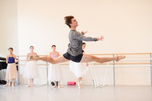 Peter Franc in rehearsal for August Bournonville's Napoli, running October 6-13, 2018 at the Keller Auditorium. Photo by Yi Yin