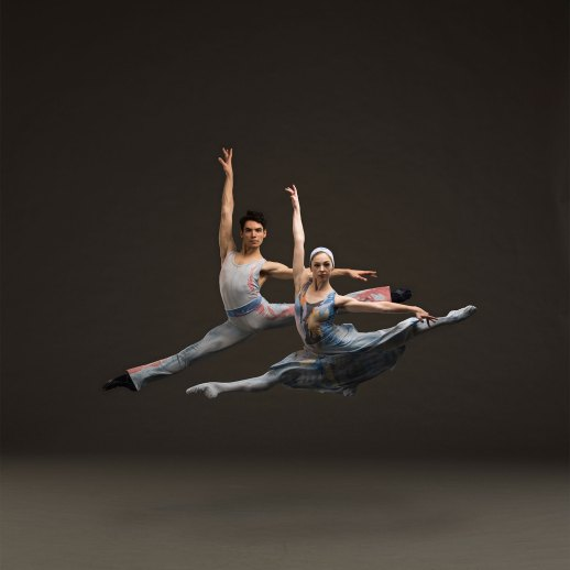 Theodore Watler and Katherine Monogue in Alvin Ailey's Night Creature. One of three works presented in Oregon Ballet Theatre's production of THE AMERICANS, running June 7-15, 2019 at Portland's Newmark Theatre. Tickets at OBT.ORG. Photo by Christopher Peddecord