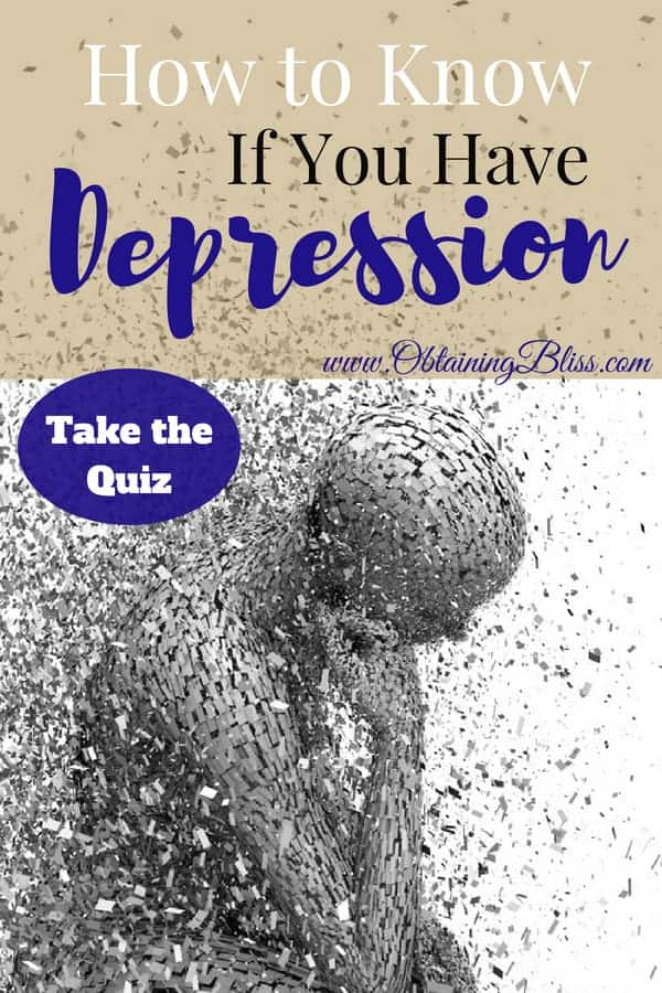 It can be difficult at times to know if you have depression. You may have symptoms and you've been feeling