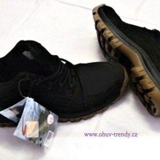pánské kotníkové boty kožené vel.45