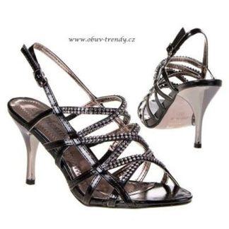 sandály na stříbrné jehle