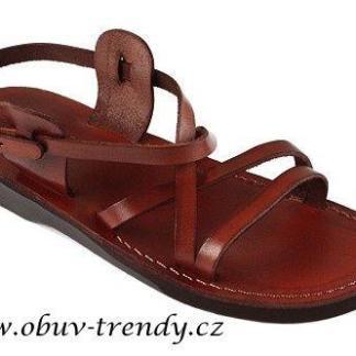 ručně šíté kožené sandály Pepi