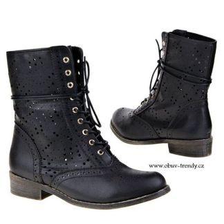 šněrovací boty kotníkové