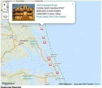 * Outer Banks Real Estate Map Search
