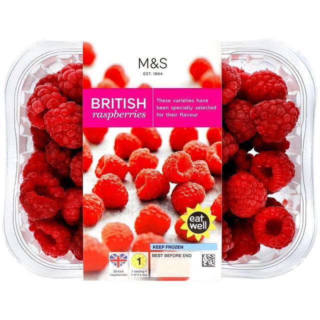M&S British Raspberries Frozen   Ocado