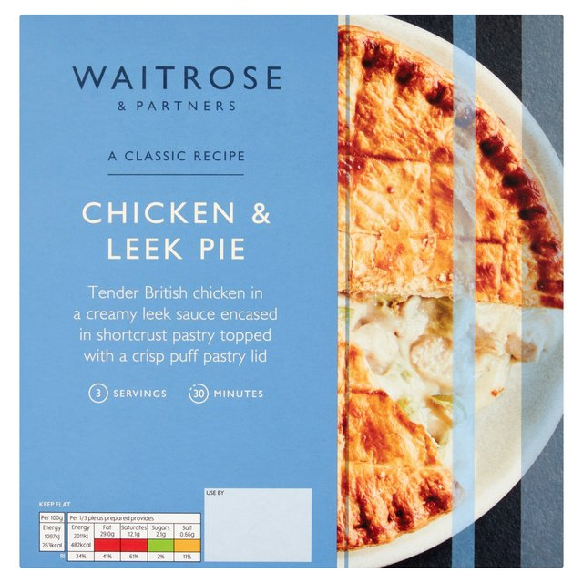 Waitrose Chicken Leek Amp White Wine With Puff Pastry Lid