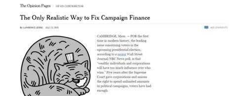 Proibir o financiamento privado de campanha. Este é o único modo de acabar com a corrupção na política, avalia Lessig