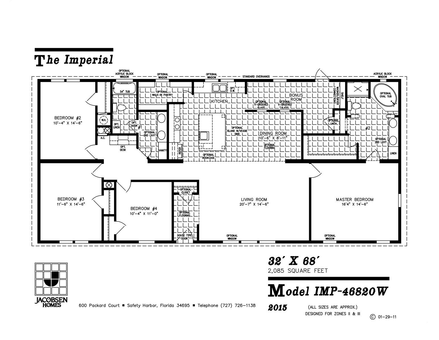 Imp W Mobile Home Floor Plan