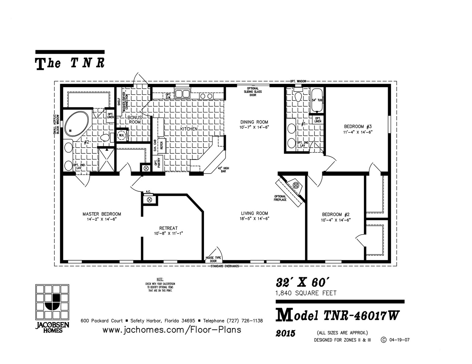 Tnr W Mobile Home Floor Plan