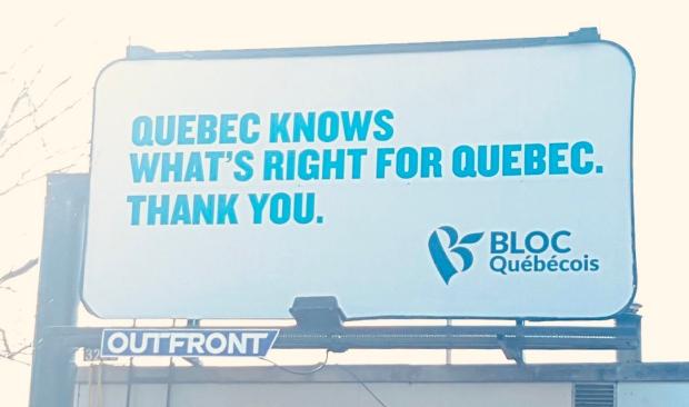 Bloc Quebecois billboard