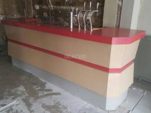 Comptoir De Bar En Formica Des Annees 60 Avec Arriere Bar Occasion A Vendre Ocazoo