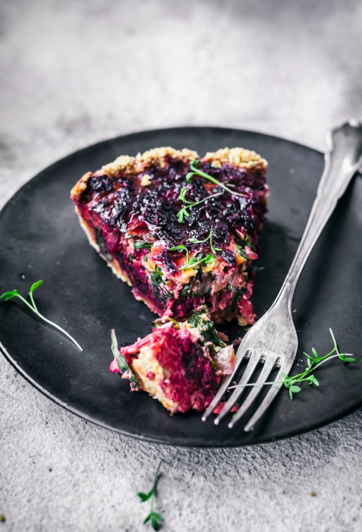 Beets and Greens Tart | occasionallyeggs.com #healthy #vegetarian #dairyfree