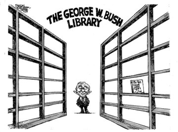 bush no books