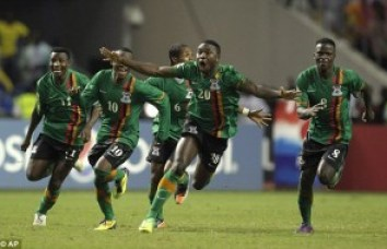 Zambia celebrates its 2012 AFCON championship