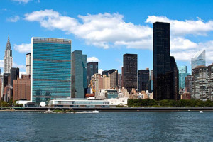 Trump Tower in shadow of United Nations, or is it the other way around?