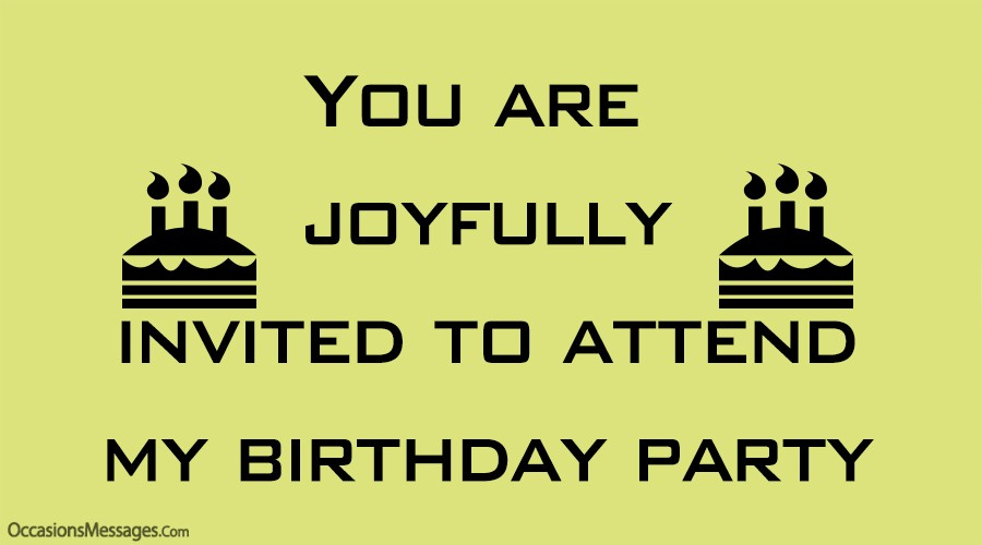 best birthday party invitation messages
