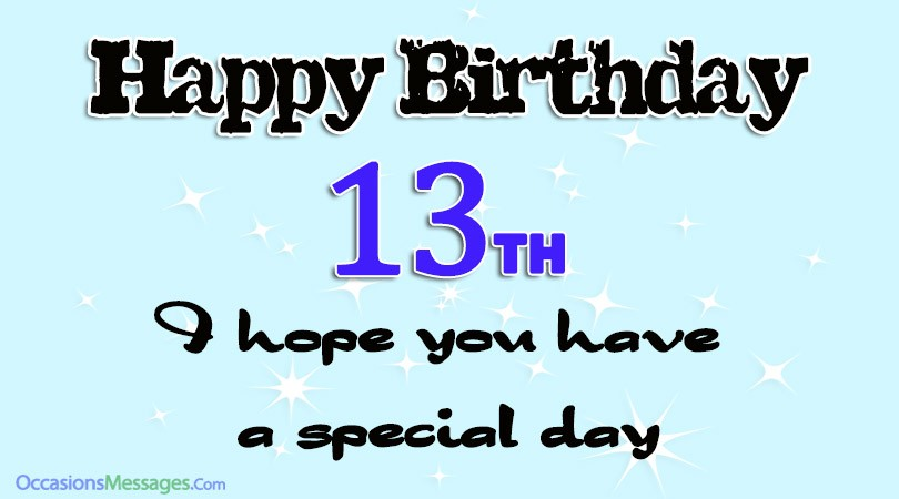Happy 13th Birthday Wishes Cute 13th Birthday Messages