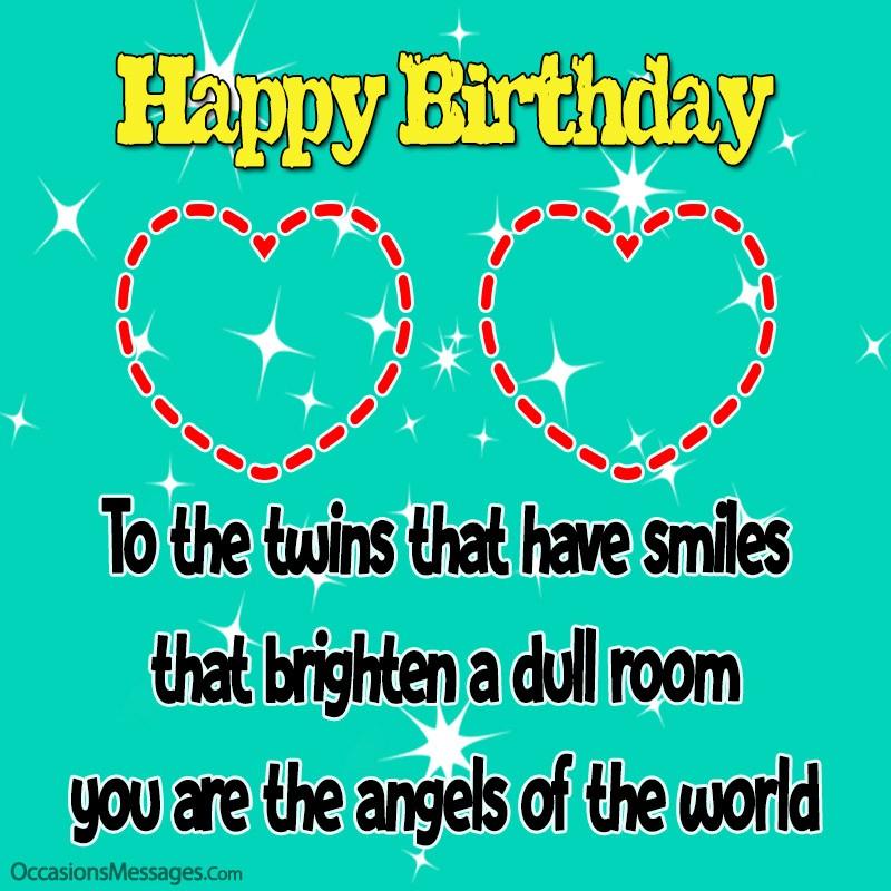 Amazing Birthday Wishes For Twins Happy Birthday Twins