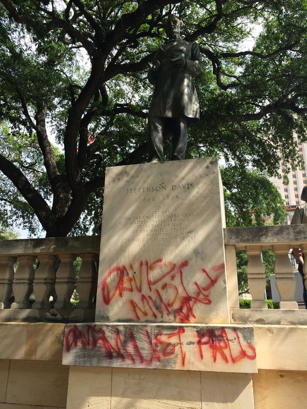 "Fueled by tears of sorrow, and likely lacking even the most rudimentary knowledge of history, students vandalized the statue as part of their ""protest."""