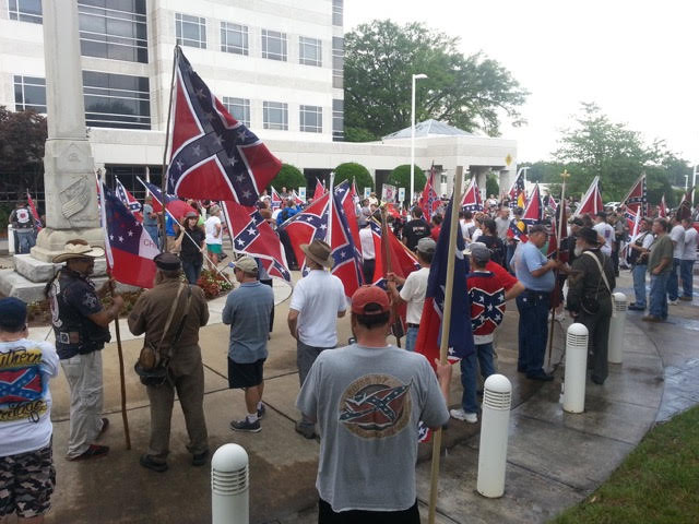 A snapshot of some North Carolinians standing up for their heritage and history.