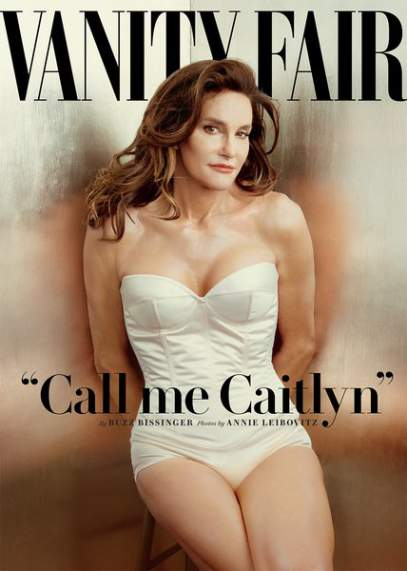 Caitlyn Jenner is unveiled on the front cover of Vanity Fair