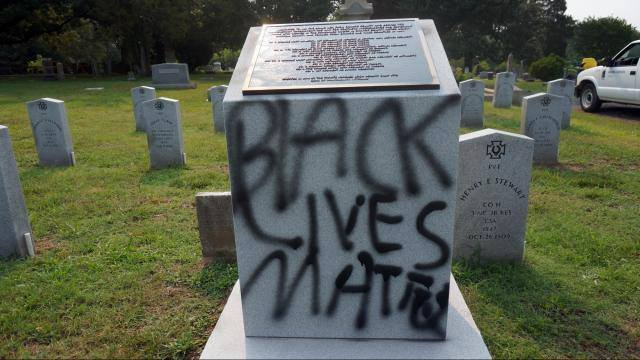 #BlackLivesMatter movement vandalizes monuments and graves to send a political message