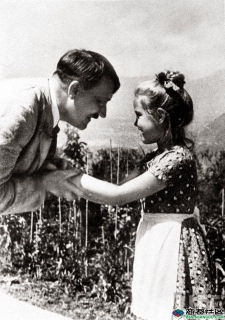 Adolf Hitler and girl