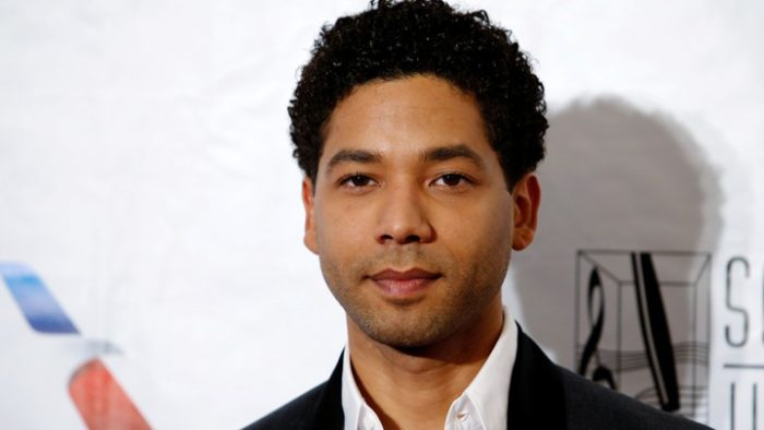 Singer Smollett poses on the red carpet before the 47th Songwriters Hall of Fame ceremony in New York