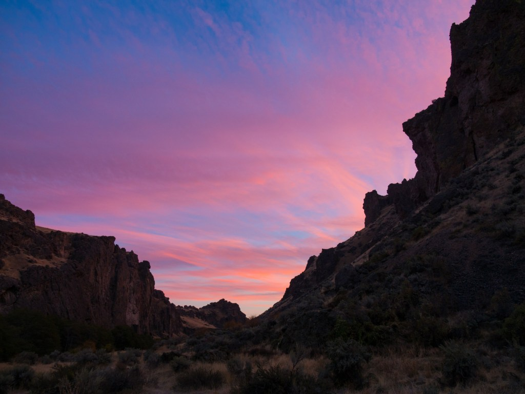 Sunset, Succor Creek
