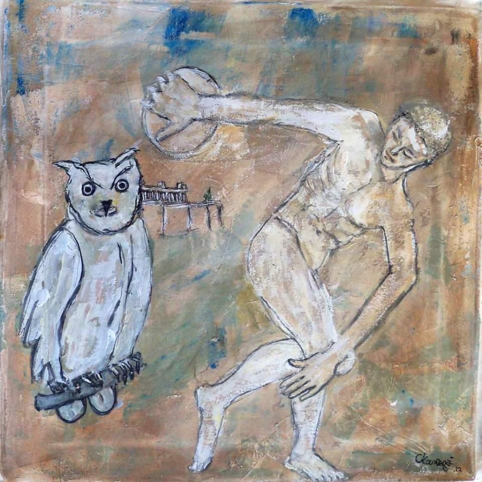 Christina Kouvaras, Untitled. Greece, 2012. Oil on canvas, 45 x 45 cm