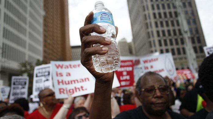 Detroit water shutoffs, Detroiters Resisting Emergency Management, water crisis, water privatization, Kevin Orr, emergency manager, Flint water crisis, water as a human right