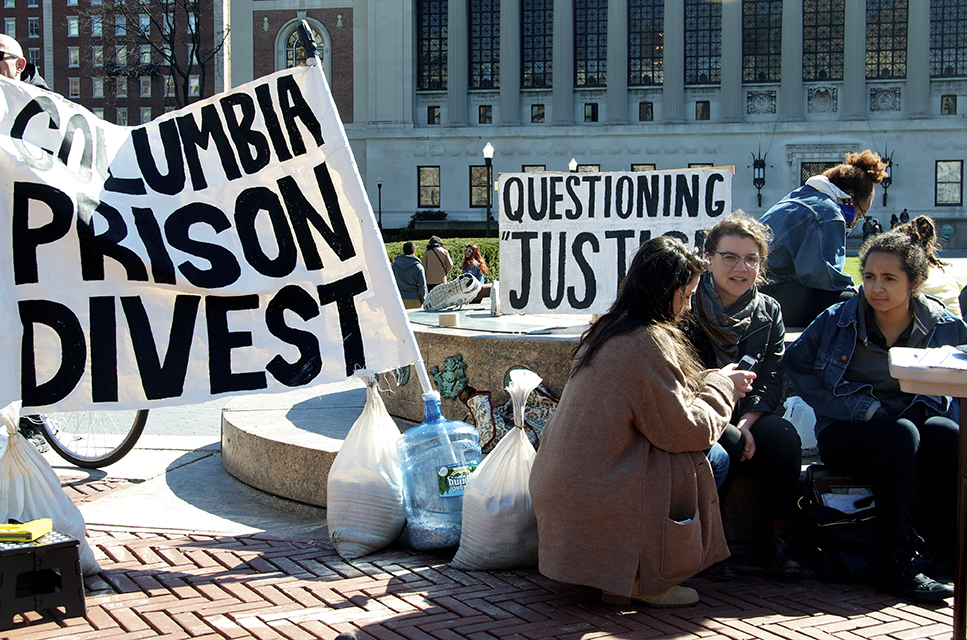 prison divestment campaign, criminal justice reform, Columbia Prison Divest, Corrections Corporation of America, GEO Group, Dream Defenders, incarceration rates, Student Alliance for Prison Reform