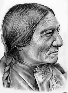 Sitting Bull - graphite pencil sketch by Greg Joens (2)