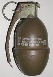 This U.S. Military MK I illumination grenade is the type of grenade that was found in a residential garage in Shelby Sunday afternoon.