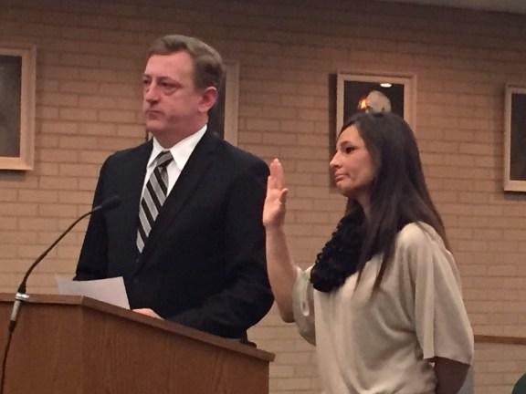 Ricky Marie Hall with her attorney, Lance Hendrickson.