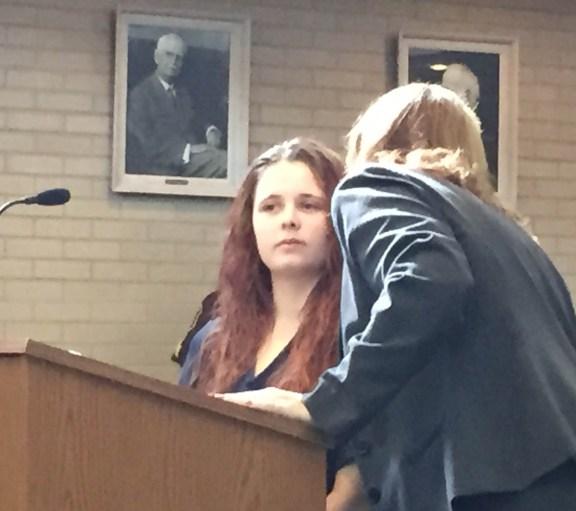 Candice Fennel with her attorney, Julie Springstead Waltz.