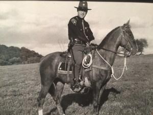 Wally as a sheriff's deputy in Akron, Ohio.