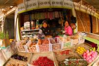 Sikakap ladys in Fruit and vegetable shop