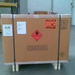 Hazardous shipment packed and ready to be shipped by OceanBlue
