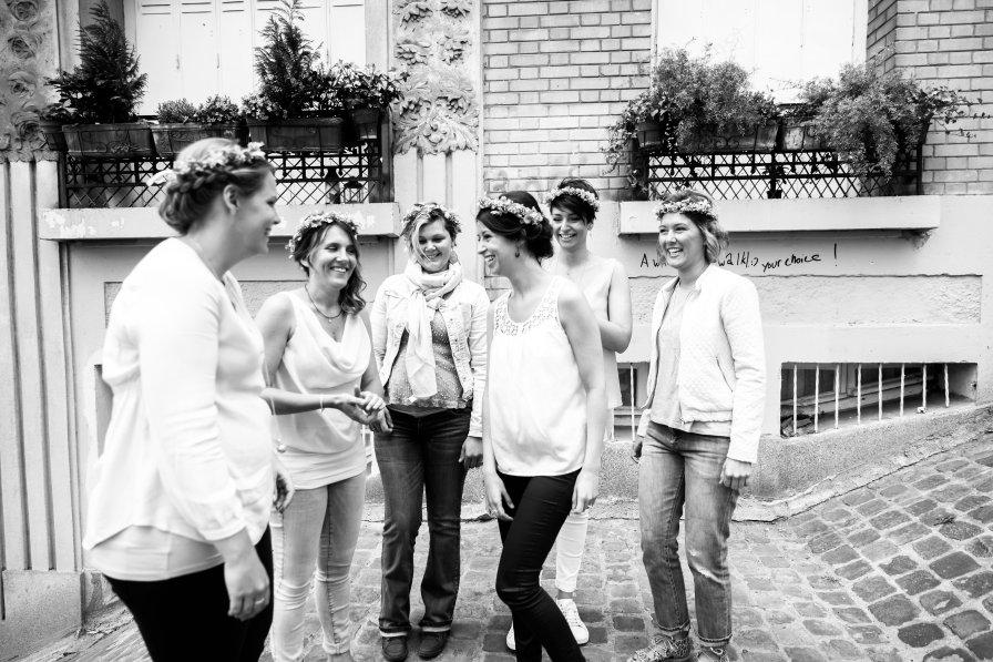 Photographe Océane Drollat, Évènements, EVJF, Paris, Montmartre, Bande de copines, amies