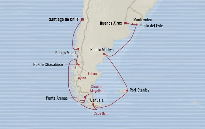 Oceania Cruises 16 Days From Buenos Aires Argentina To
