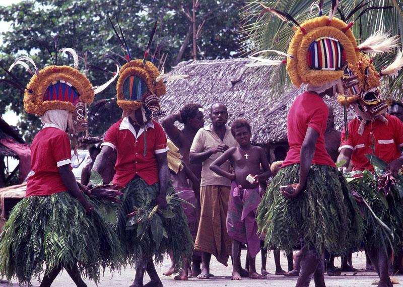 Tatanua danced at Langenia, New Ireland