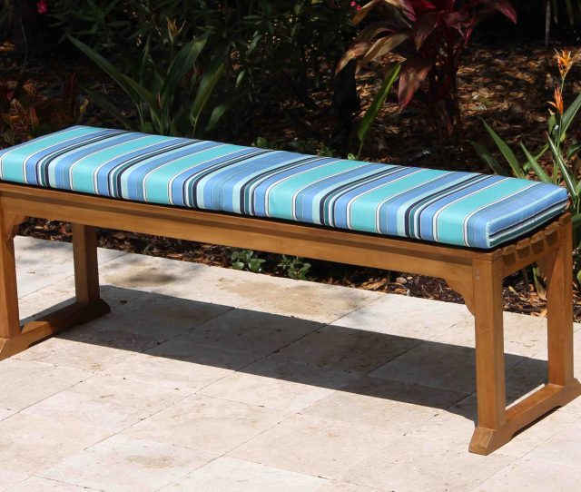 In Java Backless Bench Sunbrella Cushion