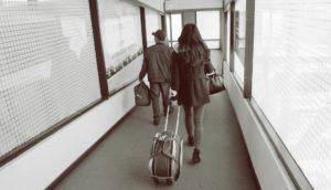 boarding on a plane