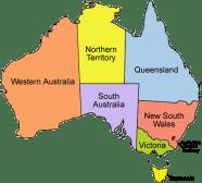 etats australie a vister