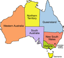 etats australie