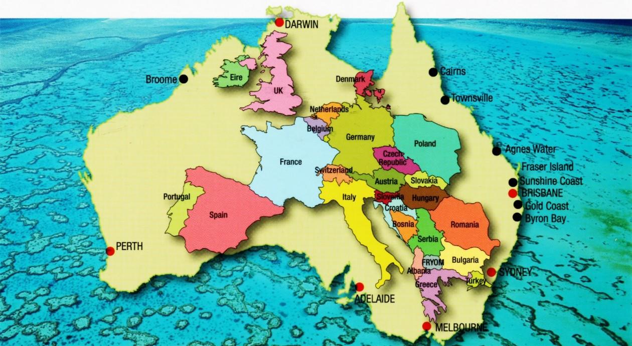 """Résultat de recherche d'images pour """"australie comparaison europe"""""""