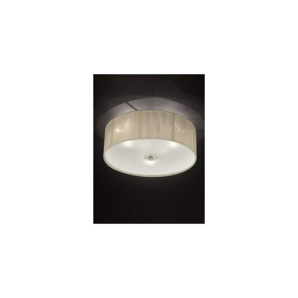 Franklite FL2341 3 Desire Cream Strung Flush Ceiling Light FL2341 3 Desire 3 Light Flush Ceiling Light Cream